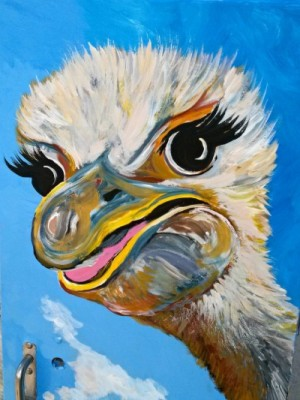 Ostrich_Painting_Face
